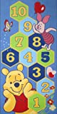 Children's Disney Rug - Winnie The Pooh - Hunny Hopscotch Bedroom Rug - 080x160cms (2'7