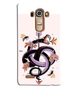 Blue Throat Snake On Arrow Printed Designer Back Cover/ Case For LG G4