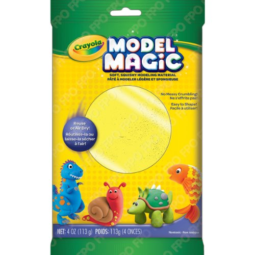 Crayola Model Magic Clay Bag, Neon Yellow, 4-Ounce