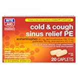Rite Aid Cold & Cough Sinus Relief PE, 20 ea