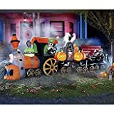 "Halloween Decorations ""Bound for Gory"" Animated Airblown Train"
