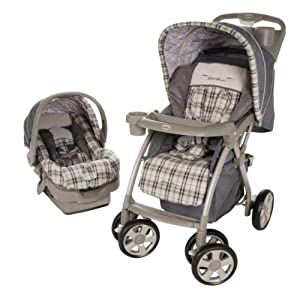 Brown Car Seat And Stroller Combo