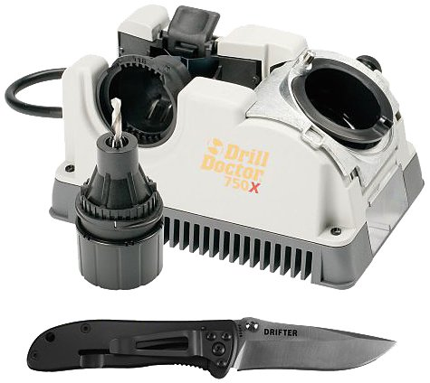Drill Doctor DD750X-KP CRKT Drill Bit Sharpener with Knife