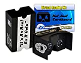 V2 The Complete Google Cardboard Kit version 2.0 Virtual Reality Headset with Head-strap, Video Instructions and VR Portal With Touch Button - for iPhone and Android (Black) by Not Just Cardboard