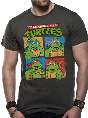 Teenage Mutant Ninja Turtles Tartarughe Maglietta Maglia T Shirt Group Shot Size L CID
