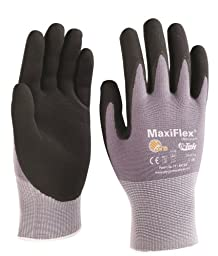G-Tek TM MaxiFlex Seamless Knit Nylon Gloves with Micro-Foam Nitrile Grip (Men\'s Small)