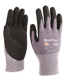 G-Tek TM MaxiFlex Seamless Knit Nylon Gloves with Micro-Foam Nitrile Grip (Men\'s Small)