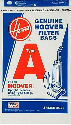 Hoover 4010001A Type A Vacuum Bags, 3 Bags (Vacuum Cleaner Bags For Hoover compare prices)