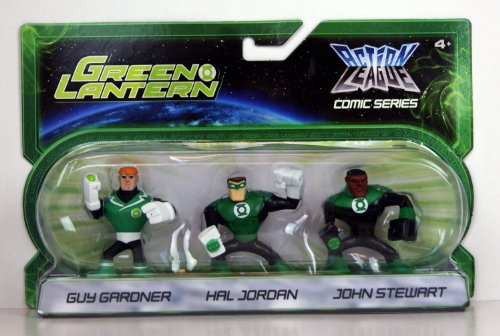 Green Lantern Action League Comic Series 3Pack Guy Gardner, Hal Jordan John Stewart - 1