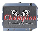 3 Row All Aluminum Replacement Radiator for 1970-1974 Dodge Challenger, 1968-1973 Dodge Charger, 1968-1973 Dodge Coronet, 1970-1973 Plymouth Barracuda, 1970 Plymouth Belvedere, 1968-1973 Plymouth Roadrunner, 1968-1973 Plymouth Satellite, 1968-1972 Plymouth GTX, Engine applications: 5.7 & 6.1 Hemi, Manufactured by Champion Cooling Systems, Part Number: 1643