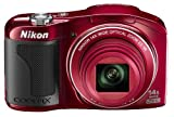 Nikon COOLPIX L610 Compact Digital Camera - Red (16MP, 14x Optical Zoom) 3 inch LCD