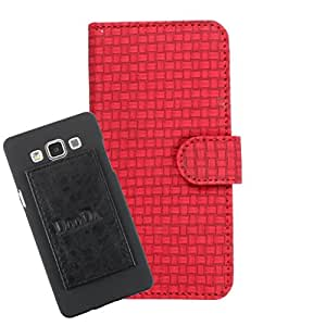 DooDa PU Leather Wallet Flip Case Cover With Card & ID Slots For LG L FINO(D295)