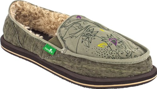 Sanuk Women's Scribble Chill Slip-On Loafer,Grey,9 M US