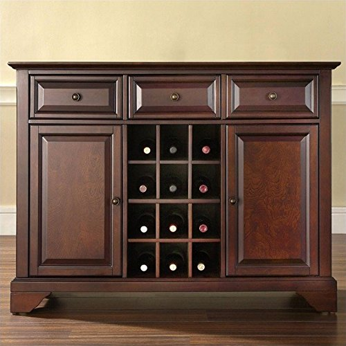 Crosley Furniture LaFayette Buffet Server/Sideboard Cabinet with Wine Storage, Vintage Mahogany (Crosley Wine Cabinet compare prices)