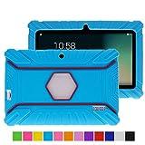 Turpro Kids' Shockproof Silicone Case for Chromo Inc 7 inch, Alldaymall A88X, Dragon Touch Y88X Plus/Y88X, VURU A33, NPOLE 7 Inch Tablet (Light Blue)