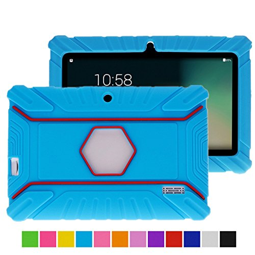 Turpro Kids' Shockproof Silicone Case for Chromo Inc 7 inch, Alldaymall A88X, Dragon Touch Y88X Plus/Y88X, VURU A33, NPOLE 7 Inch Tablet (Light Blue) (7 Inc Tablet Case For Kids compare prices)
