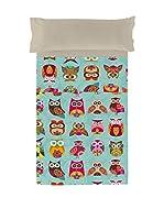 Valentina Juego De Sábanas Multi Owls (Azul/Gris/Multicolor)