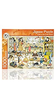 Cats in the Craft Room Puzzle Game [T40-5170G-S]
