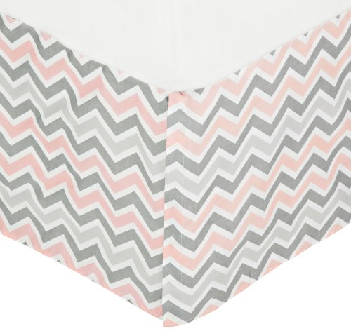 Pink Crib Dust Ruffle