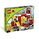 Lego Duplo Legoville - 6168 - Jouet d'Eveil - La Caserne des Pompiers