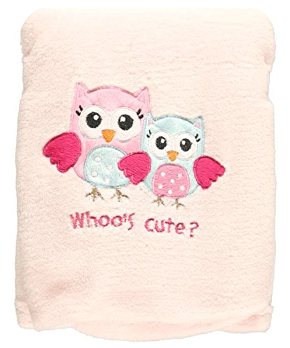 "Baby Starters ""Whoo's Cute"" Plush Blanket - pink, one size - 1"