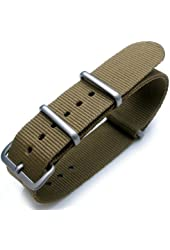Nato 20mm Heat Sealed Heavy Nylon Brushed Buckle - Military Green