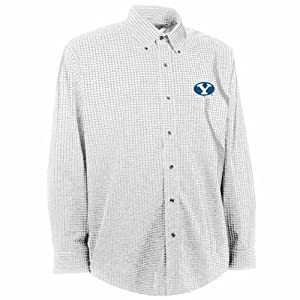 Brigham Young Esteem Button Down Dress Shirt (White) by Antigua