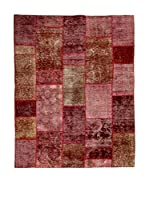 RugSense Alfombra Vintage Persian Collage (Rosa/Marrón/Rojo)