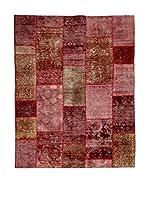 CarpeTrade Alfombra Vintage Persian Collage (Rosa/Marrón/Rojo)