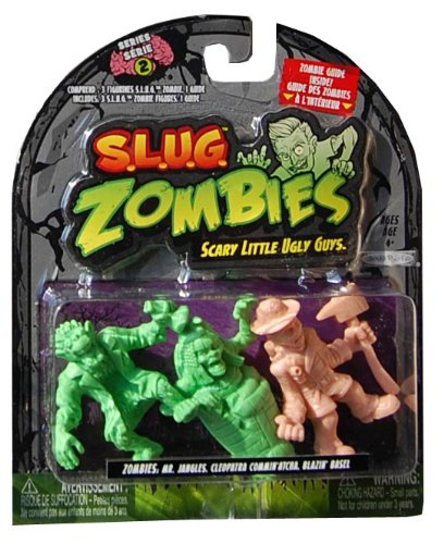 S.L.U.G. ZOMBIES FIGURES 3-PACK (SERIES 2) - Mr. Jangles, Cleopatra Commin'atcha, Blazin' Basel