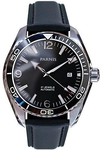 PARNIS Automatikuhr Modell 3217, Herrenuhr, Ø 45mm, Edelstahl, Keramik, Saphirglas, 5BAR, Automatik-Uhrwerk von MIYOTA