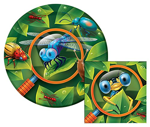 Bug-eyed Themed Dessert Napkins & Plates Party Kit for 8