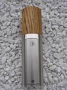 Salzmühle Nürnberg 16cm Edelst. / Zebrano