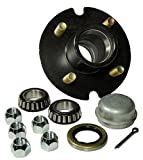 Trailer Hub Kit - 4 Bolt on 4 Inch Circle - 1-1/16 inch I.D. Bearings