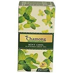 Chamong Mint Cool Flavoured Green Tea, 25 Tea Bags