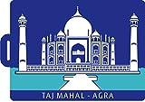 Extra Large India Taj Mahal 3D Silicon Luggage Tag (Blue)