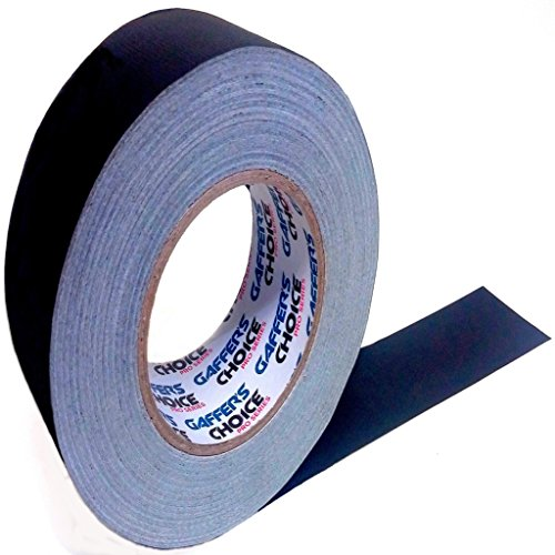 Gaffers Tape 2 Inch x 60 Yard by Gaffer's Choice - Professional Grade Adhesive Is Safer Than Duct and Gorilla Tape - Strong Black Waterproof Cloth Gaffer Tape