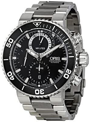 Oris Men's 01 674 7655 7184-Set Carlos Coste Black Dial Watch