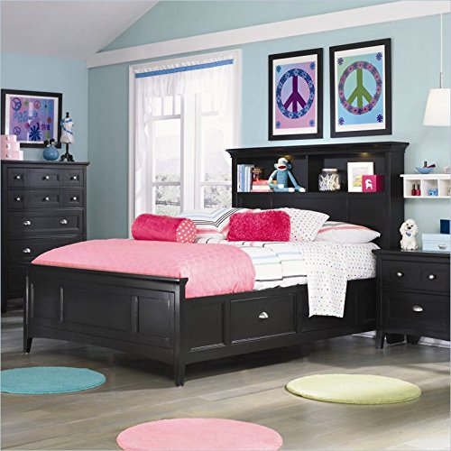 Magnussen Bennett Bookcase Bed in Black Finish - Twin