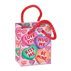 Candy Heart Mini Gift Bag Party Favors Party Accessory (1 count) (4/Pkg)