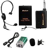 Schnurlos Funkmikrofon Funk Mikrofon Headset mic+Sender
