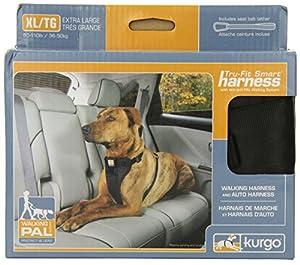 Kurgo Tru-Fit Smart Dog Harness, Extra-Large, Black