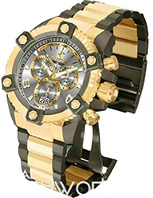 Invicta Reserve Smoke Dial Two-Tone SS Chronograph Quartz Men's Watch 13015