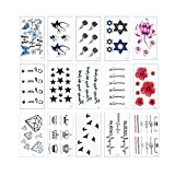 30 Sheets Waterproof Temporary Tattoos Non-Tox Body Art Tattoo Sticker Removable