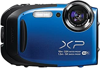 Fujifilm FinePix XP75/XP70-BLUE Waterproof 16.4MP Digital Camera with Full HD Video Movies, Wi-Fi, 3D Panorama, Shockproof Freezeproof Dust/Sandproof,16M CMOS Sensor & 5x Optical Zoom Lens (Blue)