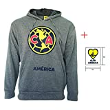 Club America hoodie Jacket Grey Adults Official licensed New Season + Sticker (Gray, S)
