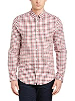 Ben Sherman Camisa Hombre Ls House Gingham (Rojo / Cielo)