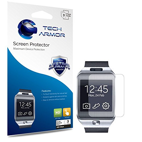 Galaxy Gear 2 / Neo Screen Protector, Tech Armor High Definition HD-Clear Samsung Galaxy Gear 2 / Neo Screen Protector [3-Pack]