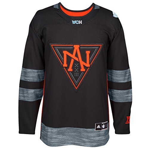 North America World Cup of Hockey 2016 Black Adidas Men's Premier Jersey (Small)