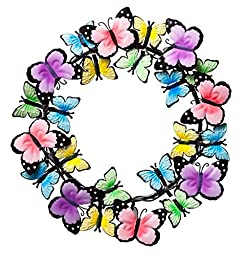 Miles Kimball Metal Butterflies Wreath by Maple Lane CreationsTM